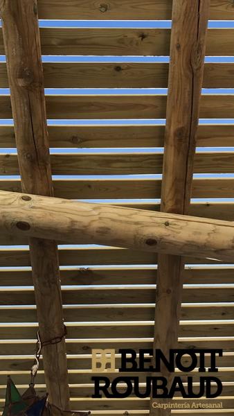 Pergolas palos redondos almeria