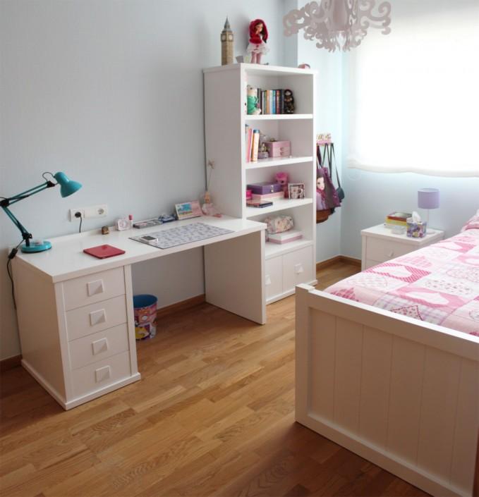 Dormitorio juvenil a medida benoit roubaud carpinter a - Dormitorios lacados en blanco ...