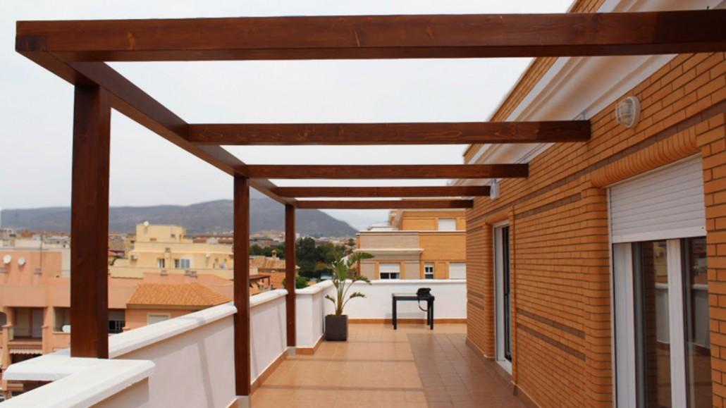 Pergolas de madera minimalistas benoit roubaud - Pergolas de lona para jardin ...
