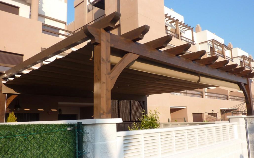 Pergolas de madera y toldos benoit roubaud carpinter a for Perfiles para toldos correderos