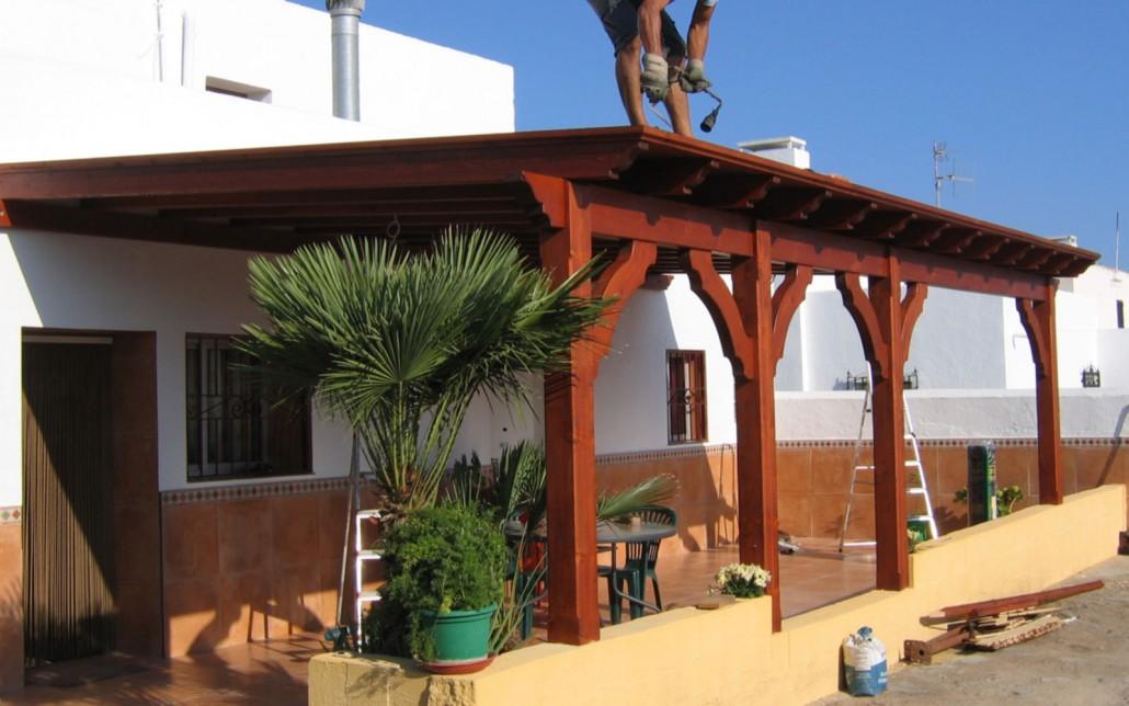 Porches de madera en almeria benoit roubaud carpinter a - Porches de madera cerrados ...