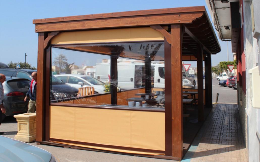 Cerramientos terrazas cafeterias benoit roubaud for Toldos para terrazas economicos